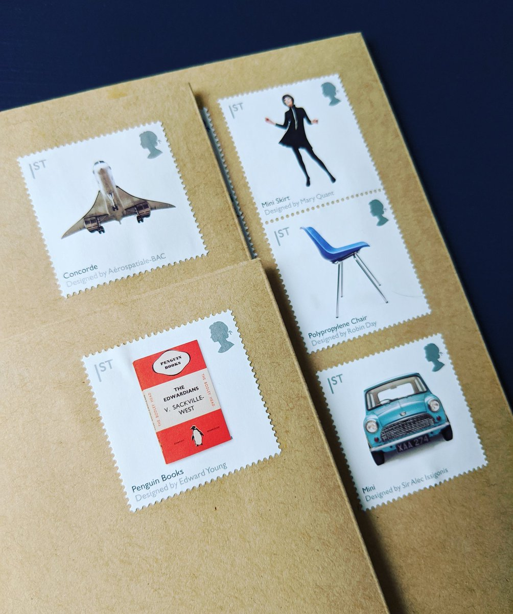 Outgoing mail. Each stamp has its own British Design Classic Icon to boast #BritishDesign #Stampspic.twitter.com/lzGxiCgTza