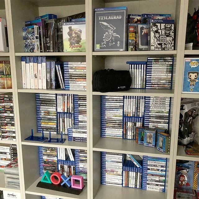 The VITA shelf is coming along  * * * #psvita #psvitagames #playstationvita #playstation #gaming #games #gamer #gamerguy #gamergirl #gamecollecting #videogames #geek #nerd #instagaming #gamersofinstagram #ps3 #ps4 #sony #handheldgaming #gameroom #re… https://ift.tt/2uWHkKPpic.twitter.com/cJ0Nk3gehp