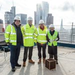 It was great to celebrate today the topping out of @one_crownplace, a new London landmark. We look forward to completing this fantastic development @CBRE_UK @KohnPedersenFox. Read more here: https://t.co/YwBJVYj6Nu