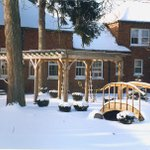 #TBT! Here's a look at our admin courtyard in Winter of 1998.