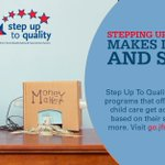 Image for the Tweet beginning: #StepUpToQuality rated child care programs