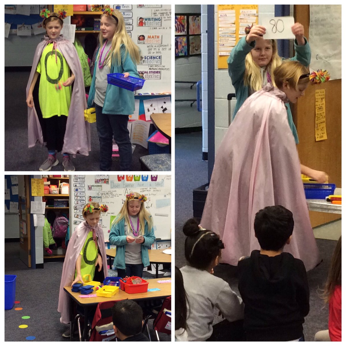 It's the 80th Day of School <a target='_blank' href='http://twitter.com/CampbellAPS'>@CampbellAPS</a> and Zero the Hero and her assistant were out celebrating with the K and PreK classes again! <a target='_blank' href='http://twitter.com/msdrabyk'>@msdrabyk</a> <a target='_blank' href='http://twitter.com/mskleif'>@mskleif</a> <a target='_blank' href='http://twitter.com/OConnor4_5'>@OConnor4_5</a> <a target='_blank' href='http://twitter.com/MsSokol1'>@MsSokol1</a> <a target='_blank' href='http://twitter.com/meekim16'>@meekim16</a> <a target='_blank' href='http://twitter.com/wadeturneraps'>@wadeturneraps</a> <a target='_blank' href='https://t.co/VfDC8aLTt9'>https://t.co/VfDC8aLTt9</a>