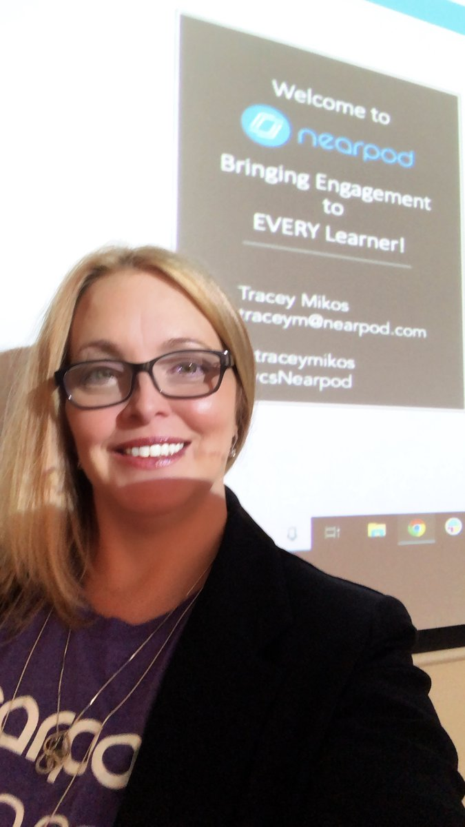 Had a great time yesterday w/ the faculty  @ Ormond Beach MS sharing ways #Nearpod can engage 100% of their students across the subject areas! There was laughter, excitement & ah-ha moments.  Oh & they #TimeToClimb! #vcsNearpod  Tks @OBMSMedia for inviting me out! pic.twitter.com/xMJ0XLvpHP