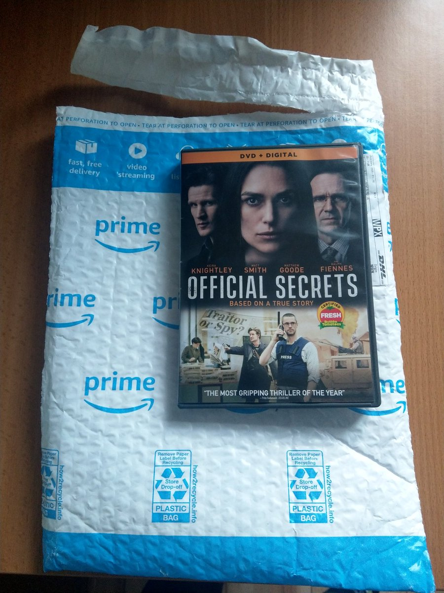 Official Secrets DVD arrived.  Was no Blu-Ray version, which is unusual these days.   This is The Region 1 release, there seems to be no sign of a Region 2 release at all. #OfficialSecrets  #KeiraKnightley #DVDpic.twitter.com/UmihdhhA1Q