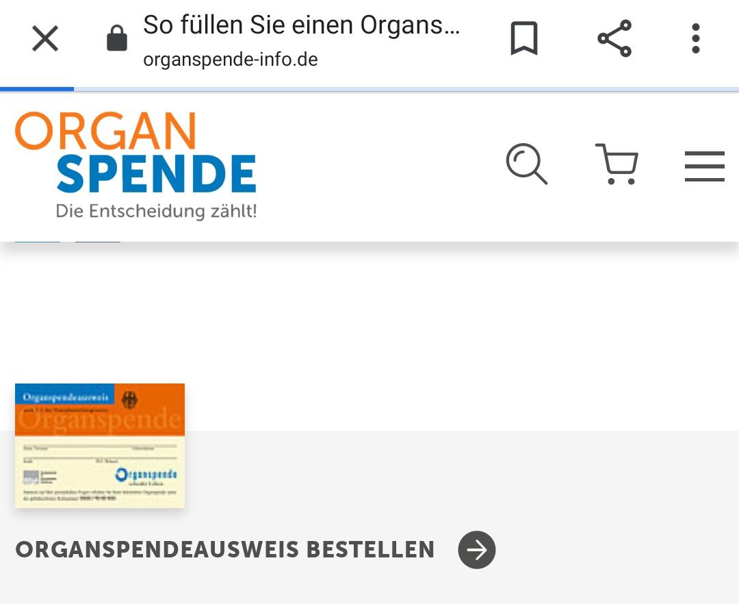 #Organspendeausweis