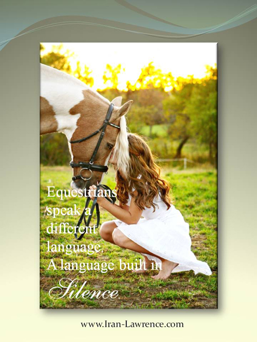 Equestrians speak a different language. A language of silence.   Recreate your life as a new work of art. Learn how! https://abstractartguru.com/ pic.twitter.com/FKLVApOIQt