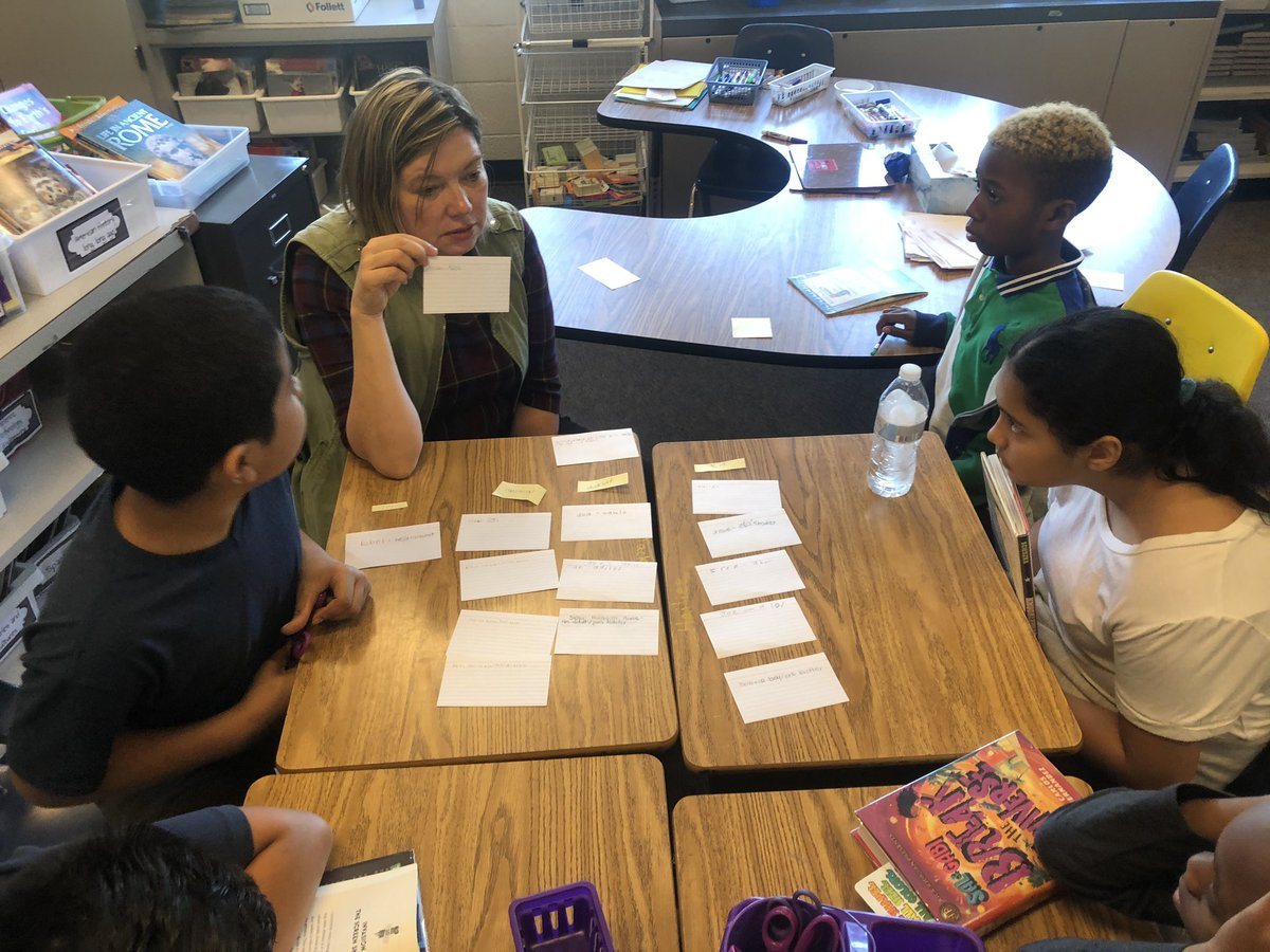 Ms. Walter joined us today for our last book club discussion. Students grouped characters from different books but written by the same author and looked for similarities and differences <a target='_blank' href='http://search.twitter.com/search?q=hfbtweets'><a target='_blank' href='https://twitter.com/hashtag/hfbtweets?src=hash'>#hfbtweets</a></a> <a target='_blank' href='http://twitter.com/hfblibrary'>@hfblibrary</a> <a target='_blank' href='http://twitter.com/APSVirginia'>@APSVirginia</a> <a target='_blank' href='https://t.co/nFCsWw5SCA'>https://t.co/nFCsWw5SCA</a>