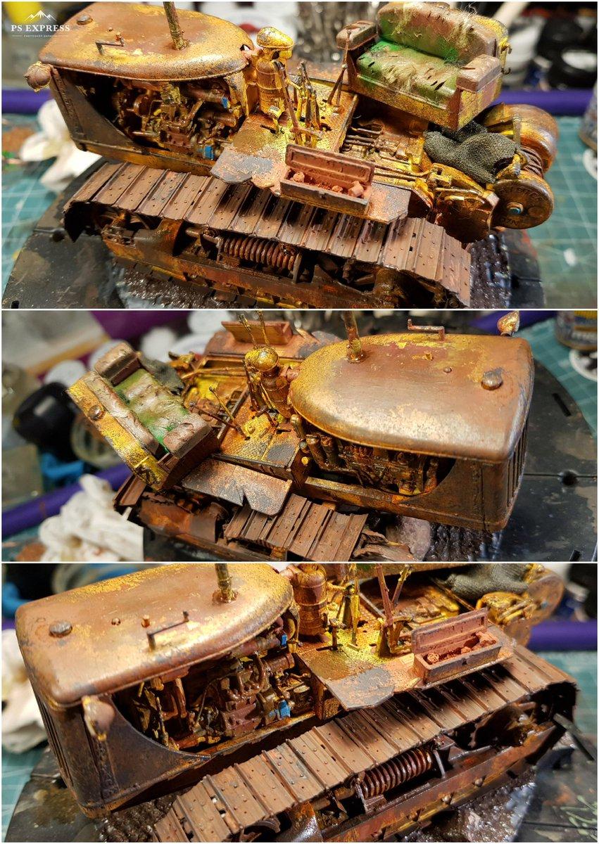 Miniart 1:35 Caterpillar D7 Tractor. Abandoned. Hand-painted. #scalemodels #scalemodeling #miniart #plasticmodel #ScaleModel #hobbymodel #modelbuildingpic.twitter.com/Xi94H270x7