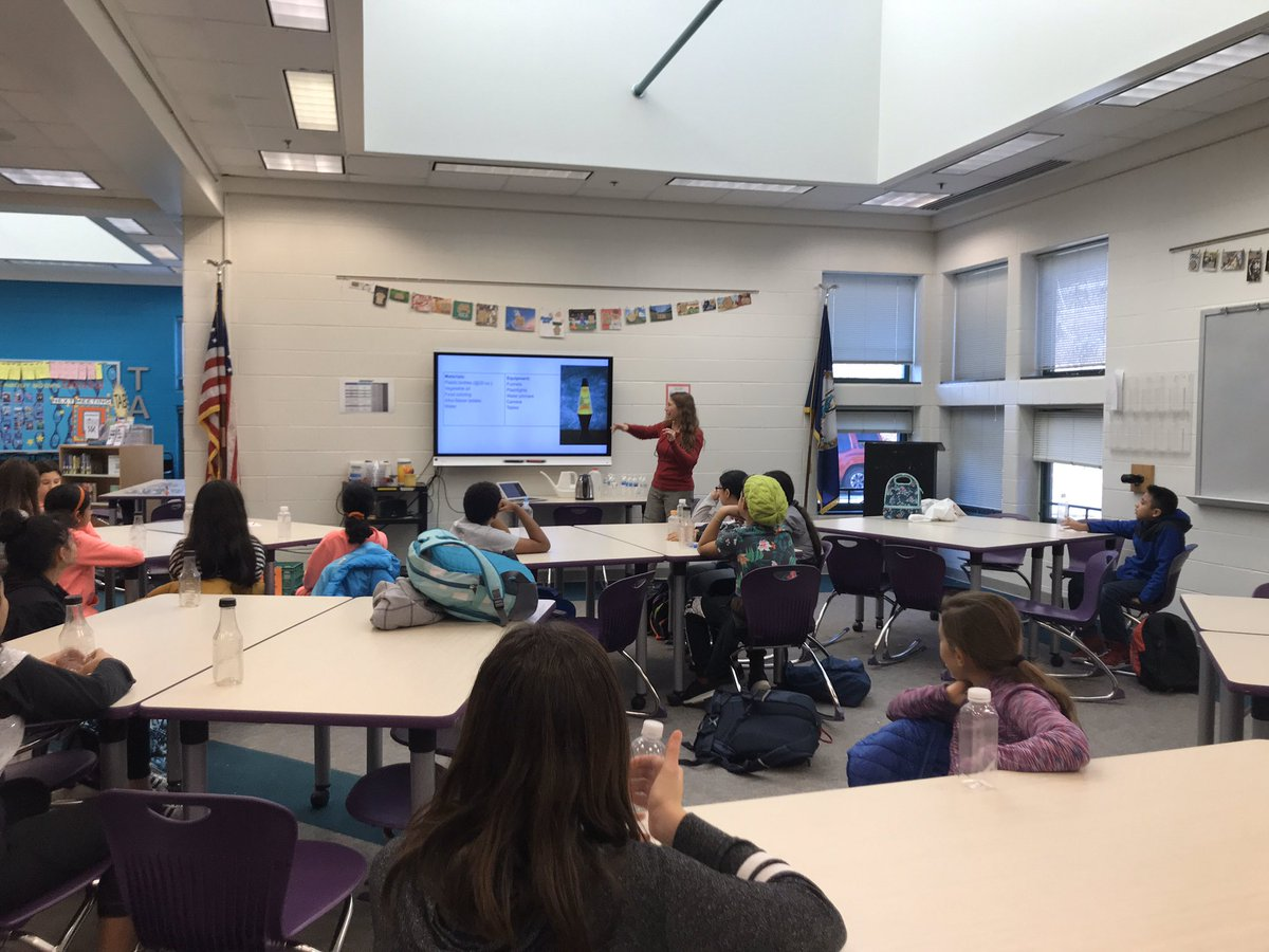 Ms. Quinn facilitating student learning through an after school Makerspace program. Students learned about chemistry and density while making lava lamps! <a target='_blank' href='http://twitter.com/GuMS_Principal'>@GuMS_Principal</a> <a target='_blank' href='http://twitter.com/APS_STEM'>@APS_STEM</a> <a target='_blank' href='https://t.co/tTl2xm6mR1'>https://t.co/tTl2xm6mR1</a>