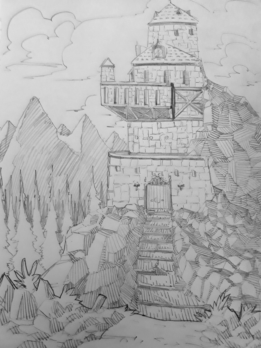 Drawing castles, keeping up with the daily dose of sketches #illustration #sketch #sketchbook #art #artwork #comics #comicbooks #comicbookart #conceptart #design #landscape #environment #mountains #castlepic.twitter.com/dcVmIitMCb
