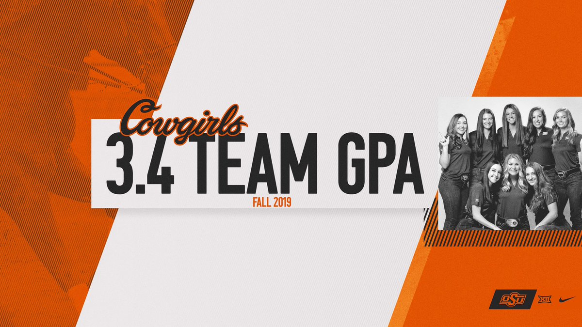 Getting it done in the arena and the classroom    For the eighth straight semester the Cowgirls have maintained at least a 3.4 team GPA!   #NoDoubt | #okstate <br>http://pic.twitter.com/uaFBkUqeLd