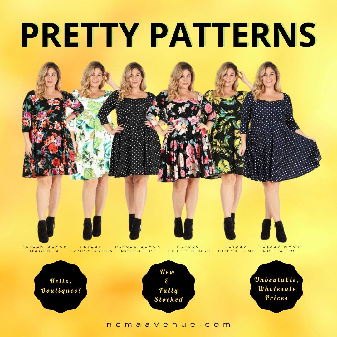 Pretty patterned dresses. Shop https://soo.nr/cWNg   #plussizeclothing #plussizeclothes #plussizefashion  #ladiesdresses #womensdresses #dress #cutedress #mididress #madeinusa #manufacturedinusa #womenswholesale #womensclothingmanufacturer #missysize #plussizepic.twitter.com/6bhD1ZbACE