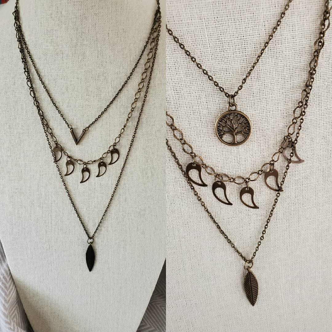 Layer Necklace $23 Link http://www.etsy.com/shop/TheMagpieMirror…  #Handmade #BohoChic #VintageFinds #EtsyFinds #Upcycled #StyleBook #AccessoriesOfTheDay #JewelryOfTheDay #JewelryAddict #GiftForHer #GiftForMom #GiftForTeen #GiftIdeaspic.twitter.com/xpdixc5Yjr