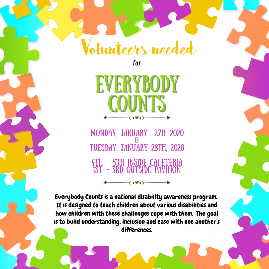 Volunteers needed for our amazing program, Everybody Counts! Please consider signing up for a shift.  https://www. signupgenius.com/go/70a0d4fa4ad 2fa2f94-everybody  …  #DWEPTA #DWE2020 #EverybodyCounts<br>http://pic.twitter.com/9VG2dcssH5