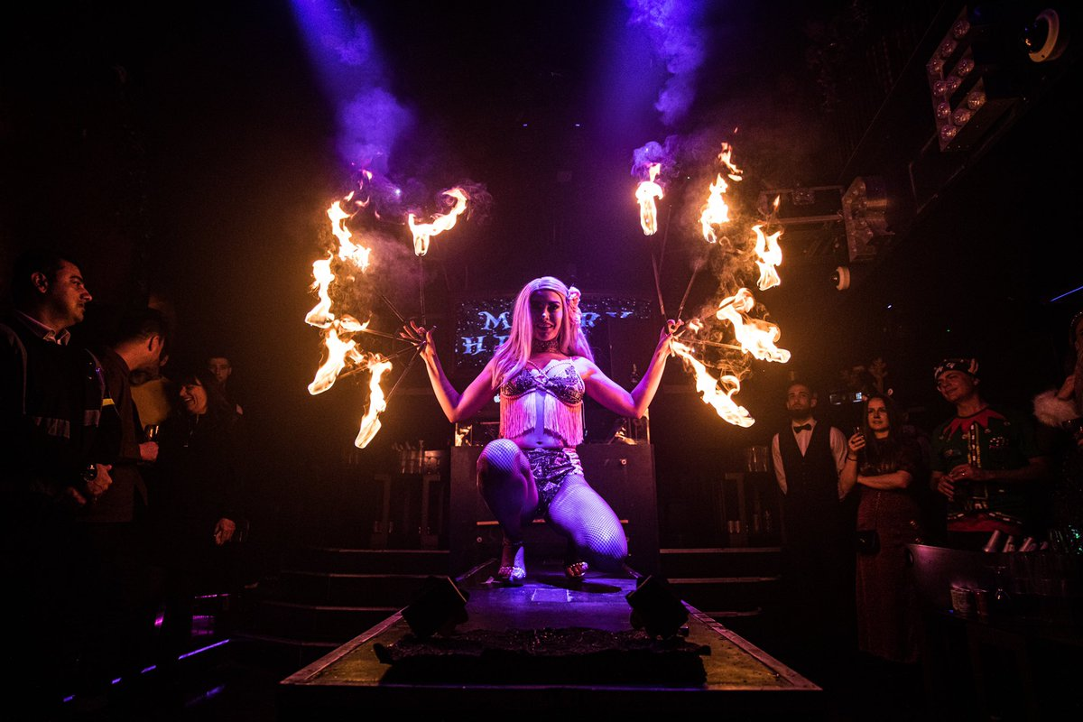 What a Christmas party this was! Such a fun event at one of our favourite venues the #LondonReignShowclub #christmasparty #christmas2019 #party #corporate #event #entertainment #fireact #eventprofs #eventprofsuk #lovemyjobpic.twitter.com/G7miwY2Lf0