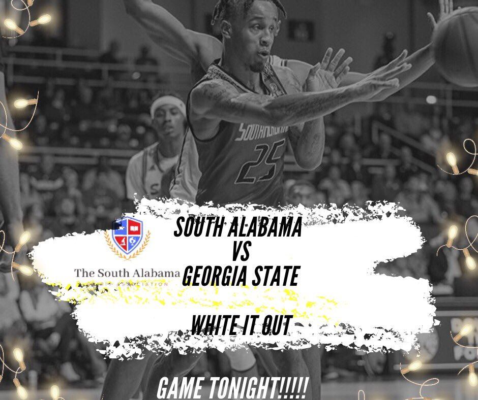 GAME DAY!!! COME SUPPORT OUR JAGS !! We need 900+ students to win free wings 🤩🐾🐆 @USAPortCity @WeAreSouth_MBB