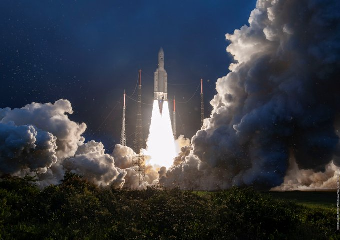 India's communication satellite #GSAT30 was successfully launched into a Geosynchronous Transfer Orbit by #Ariane5 #VA251. Thanks for your support !!!For details please visit: https://www.isro.gov.in/Spacecraft/gsat-30…Image Courtesy: Arianespace