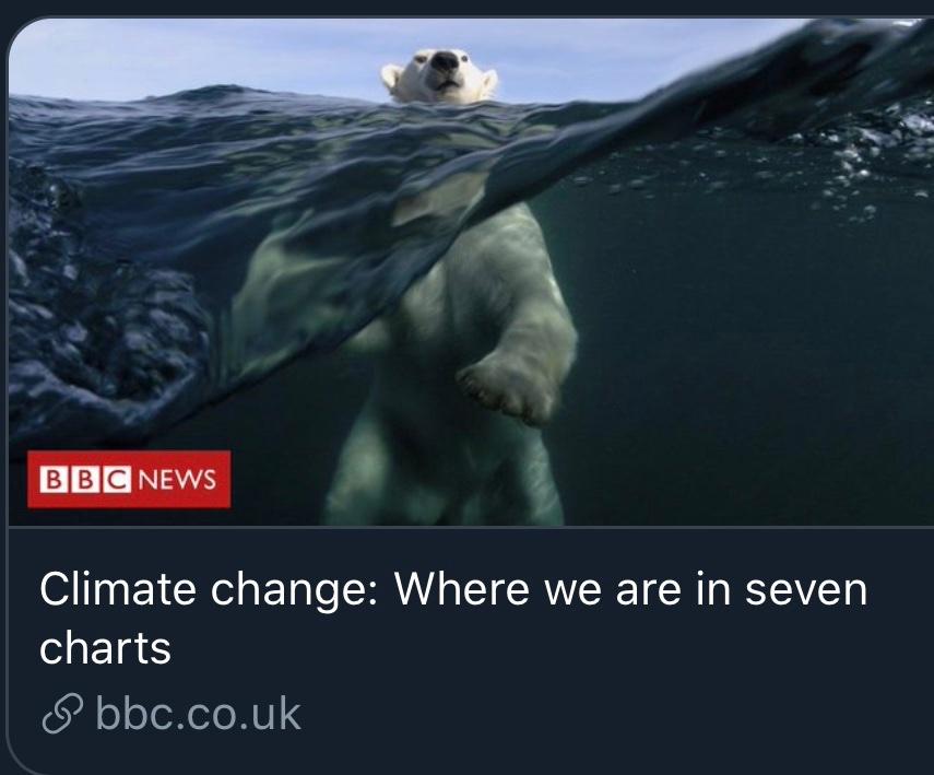 Ursus maritimus, clearly struggling.  It's not natural for them to swim. pic.twitter.com/LNokGa5YKB