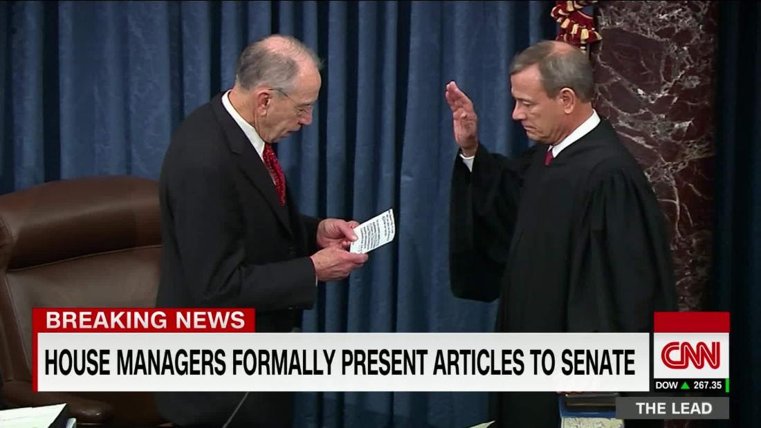 Chief Justice, Senators sworn in for Trump impeachment trial @SaraMurray reports cnn.it/2NAFllL