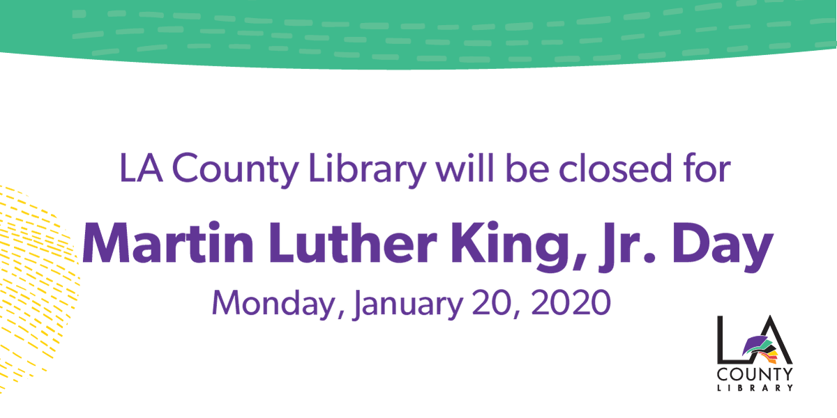 Our offices will be closed on Monday, January 20 for #MLKDay. We will resume regular business hours on Tuesday, January 22. #MLKDayofService