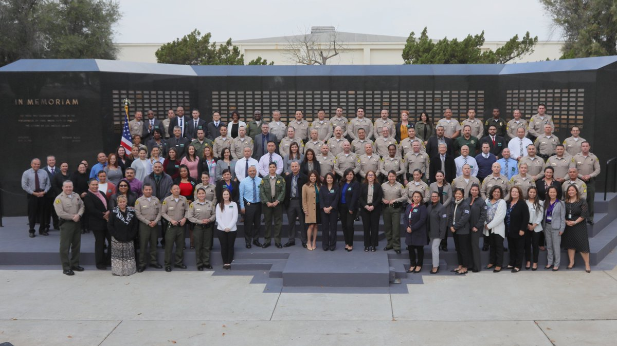 We gathered today to honor those @LASDHQ employees who dedicated their careers to not only serving the public, but serving those who later @joinLASD.    Thank you for helping keep @CountyofLA safe.