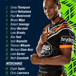 This is how the @WestsTigers could line up come Round 1️⃣.Would you make any changes ❓📝https://t.co/dLOmWGTyf5