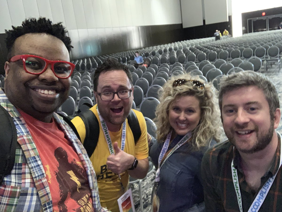 Kicking it with my @BookCreatorApp peeps. Check out my session on Friday for a chance to get a premium account!