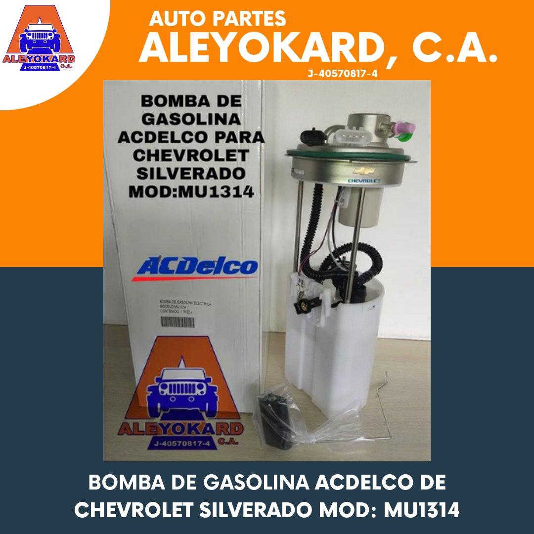 En ALEYOKARD tenemos BOMBA DE GASOLINA ACDELCO DE CHEVROLET SILVERADO MOD: MU1314  ¡Pregúntanos!  #aleyokard #carroceria #accesorios #repuestos #carro #vehiculo #venta #nuevo #oferta #sanantonio #miranda #caracas #like #followpic.twitter.com/kLnmtb7A8t