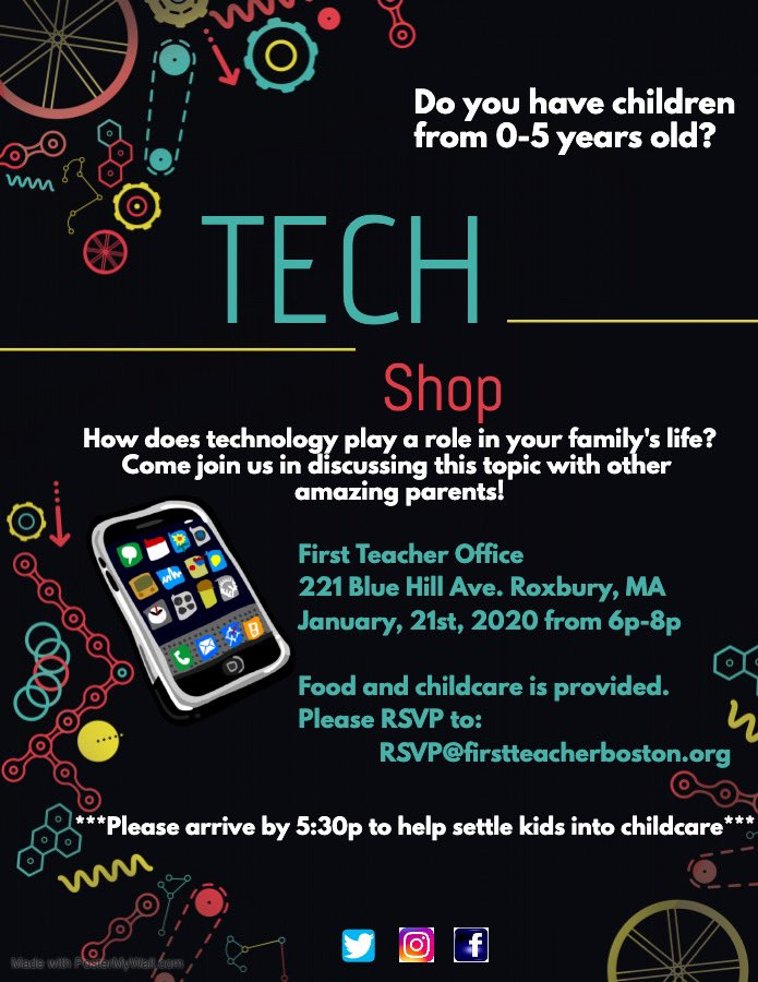Ready to transform your child's experience with technology? Join us for Tech-Shop on Tues 1/21/20, 5:30-8 pm, at the FT office! #powertotheparents #technology #TechnologyRocks #TechnologyforGood #technologyiscool #lightupthebrain #iphone #computer #electronicspic.twitter.com/sGf54YtXL3