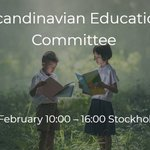 Image for the Tweet beginning: 📢Invitation to Scandinavian Education Committee🎓
