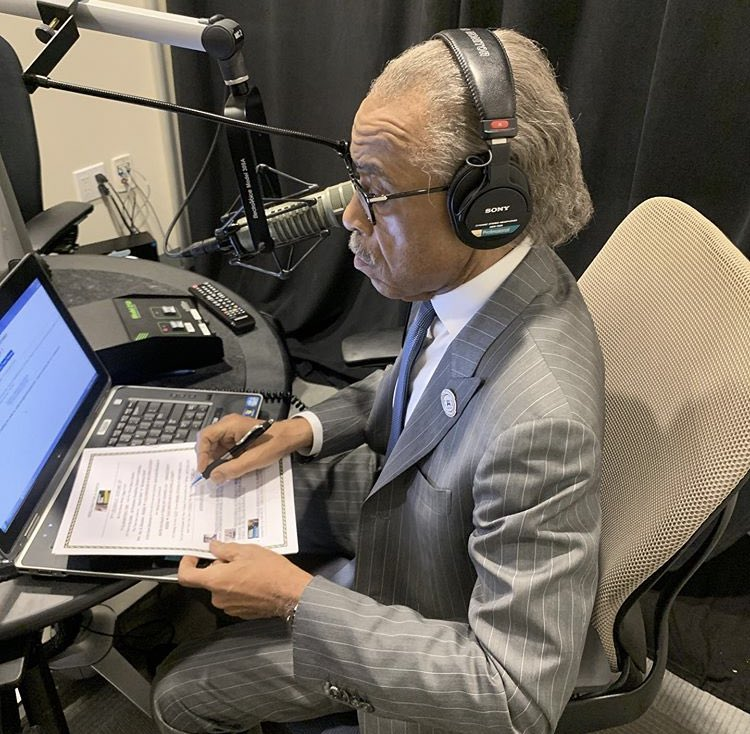 In studio now. I'm live on Keeping it Real w/ Al Sharpton from 1-4 pm/et on local stations and Sirius XM 126. Call in at 877 532 5797.