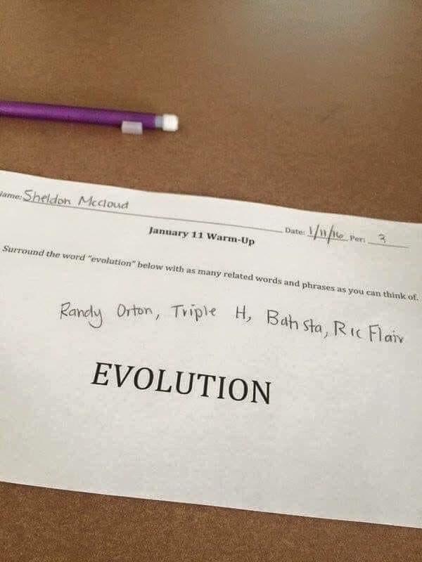 Smart Kid👏🏻👏🏻 | #Evolution #WWE @WWE