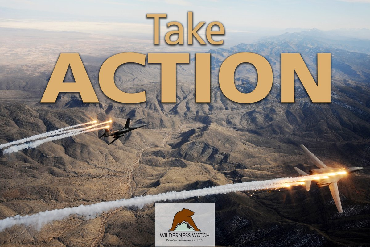 Eight Wildernesses – including the world's first #Wilderness – are threatened in southern #NewMexico by an Air Force proposal for up to 10,000 fighter jet 'sorties' a year. Please take action to #KeepItWild: https://wildernesswatch.salsalabs.org/gilaunderthreatpic.twitter.com/ehlgiOmfvx