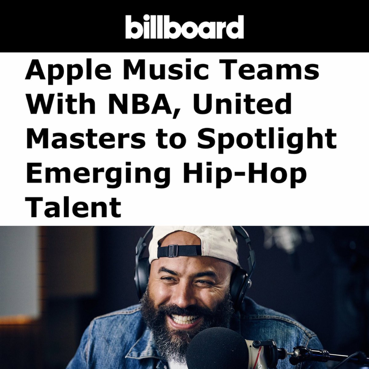 BASE:LINE playlist is live!  UnitedMasters x @applemusic x @nba. Independent artists ONLY.  Have you listened yet? 🔊 http://apple.co/BASELINE