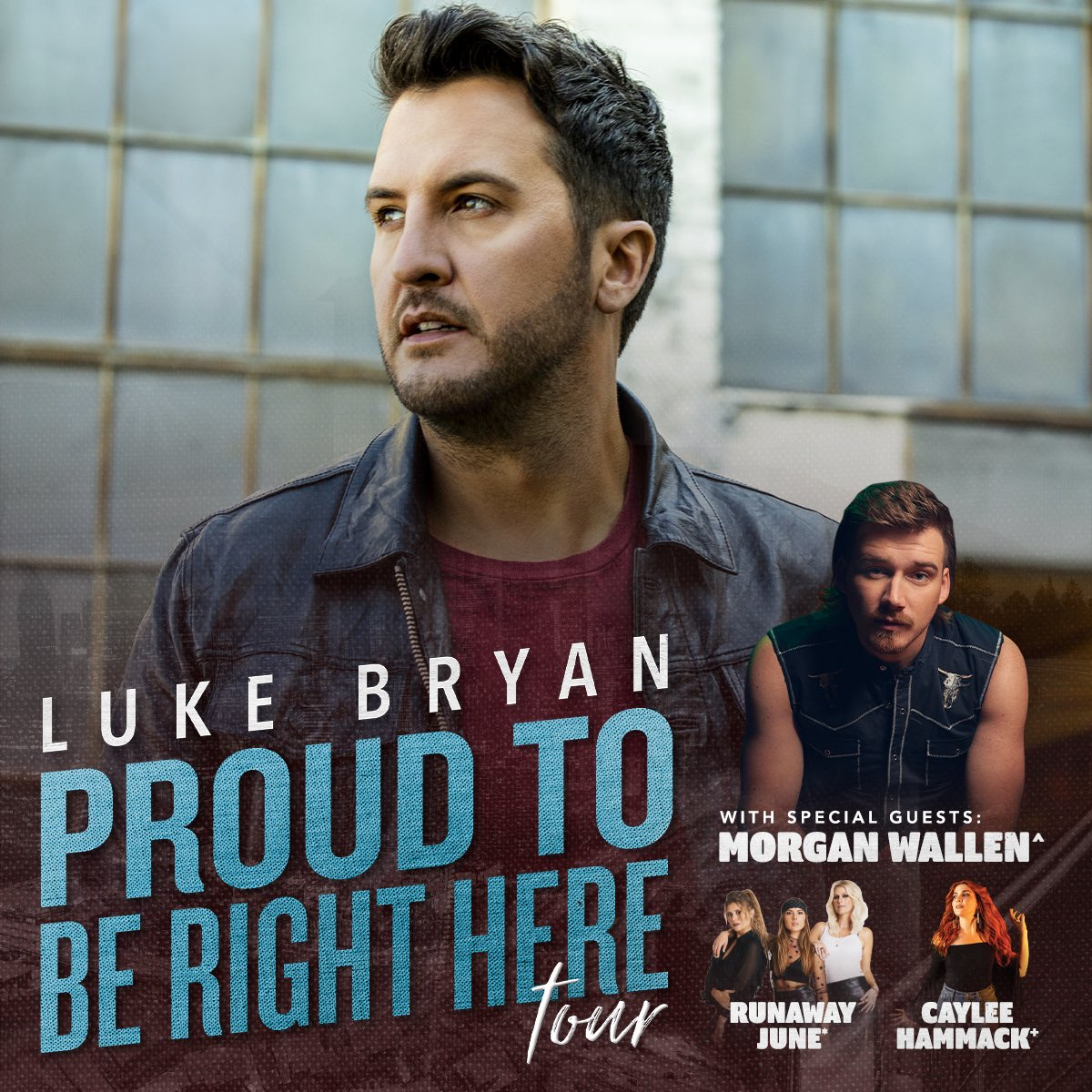Lucky to call this man a friend. Excited to join @LukeBryanOnline on his #ProudToBeRightHereTour with @runawayjune and @CayleeAnnaMusic. Select dates will go on sale Jan 31! See ya out there.