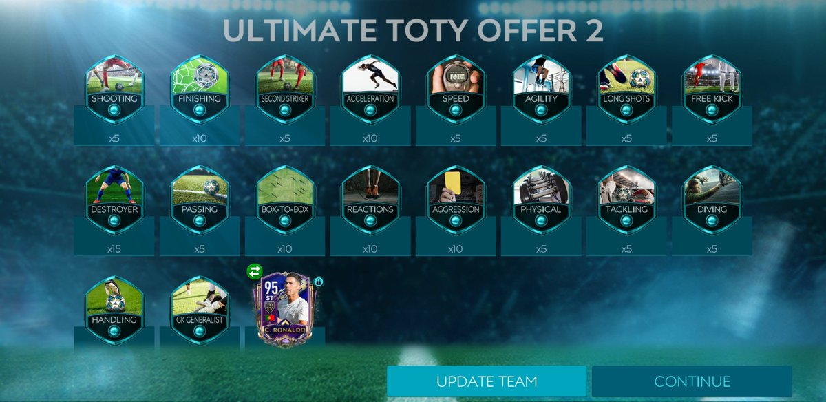 Finally,  Finally, Finally packed Christiano Ronaldo OMG ...  Fifa Mobile is  #FIFAMobile20 @EAFIFAMOBILE #FIFA  @stopde_official Crazyyyyy<br>http://pic.twitter.com/VG7w0rZu7U