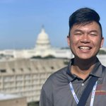 Image for the Tweet beginning: Andrew Nguyen, a @MCAMWorg student