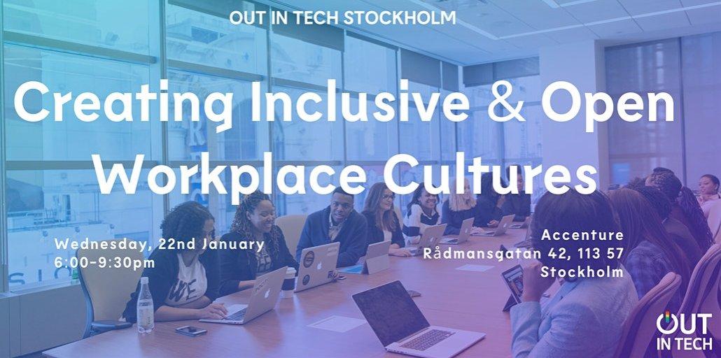 Välkommen till oss och #OutInTech's andra träff i Stockholm! Vi ses och diskuterar hur vi skapar en inkluderande arbetskultur, @macgirlsweden berättar om sina erfarenheter som lobbyist för mänskliga- och #LGBT+-rättigheter.   Anmälan och mer info: https://t.co/e327eljcyR https://t.co/ZQGYc5b1FI