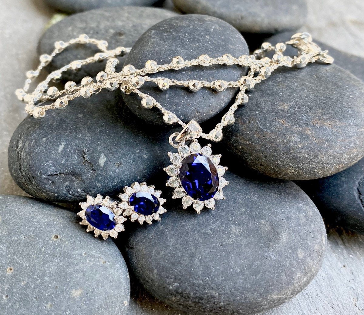 Excited to share the latest addition to my #etsy:Blue Sapphire jewelry s  #jewelrylovers #fashion #fashionblogger #instajewels #fashionnova #lovejewelry #shoppingqueen #shoppingstar #jewelry #jewelrylove #jewelryoftheday #earrings #sterlingsilver #discount #fashionistapic.twitter.com/roADyV69o9