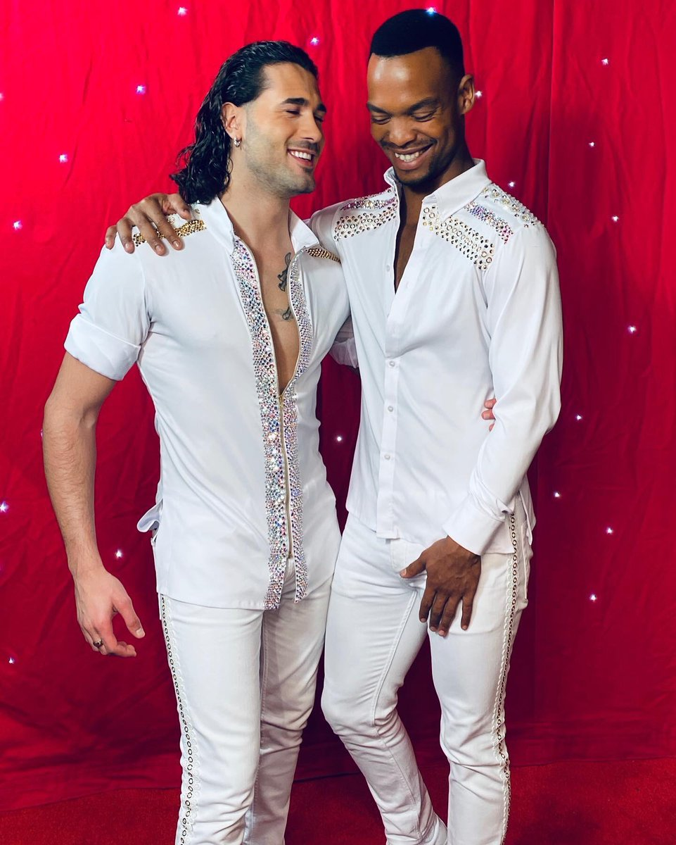 """Here we are... Friendship is sharing..❤️ """"WE ARE HERE TO STAY"""" @johannesradebe @SCD_Live_Tour"""