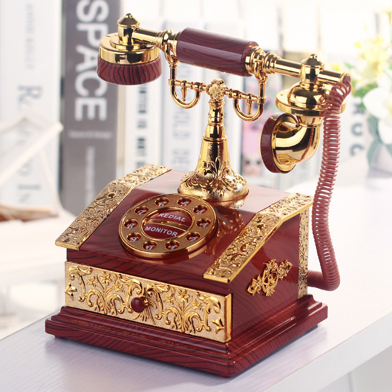 Telephone Figurine Desktop Jewelry Box // Shop:  #Jewelry #JewelryBoxes #Awessories