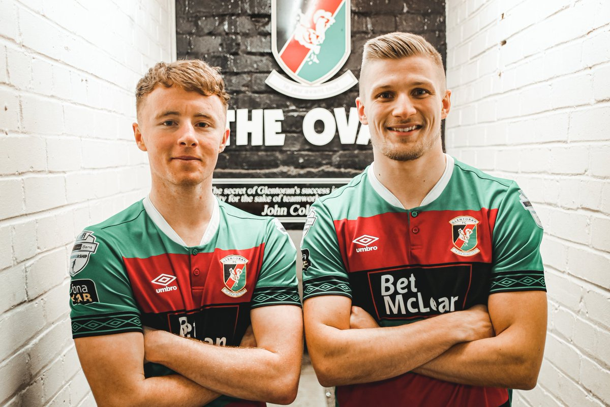 """""""These are two of the best young players in the league and we're very happy to have signed them. Paul Millar has worked closely with both lads and he knows how much they can bring to Glentoran in the months and years ahead."""" Mick McDermott #TimeToClimb pic.twitter.com/j0IVCTCD3m"""