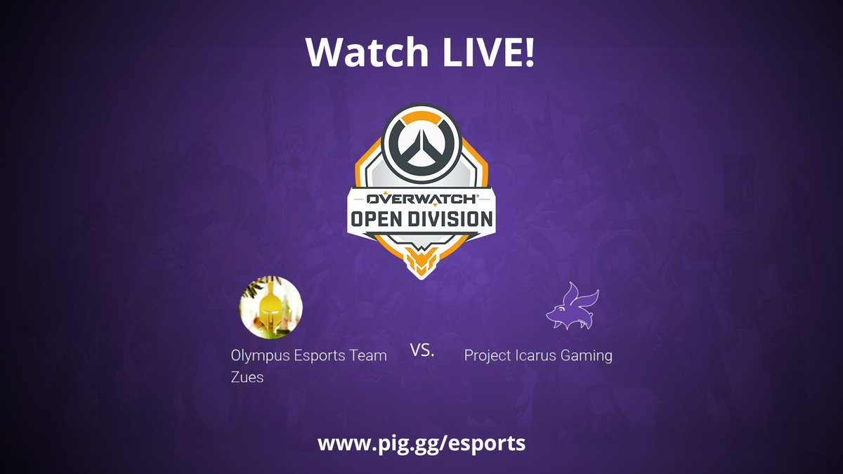 Watch LIVE as our #Overwatch team competes in Round 4 of the @PlayOverwatch #OpenDivision !  https://www.twitch.tv/projecticarusgaming… or https://www.pig.gg/esports  #esports #gaming #Twitch #games #Gaming #gamingcommunity #GamingLife #Overwatchleague pic.twitter.com/e9VczgEfkQ