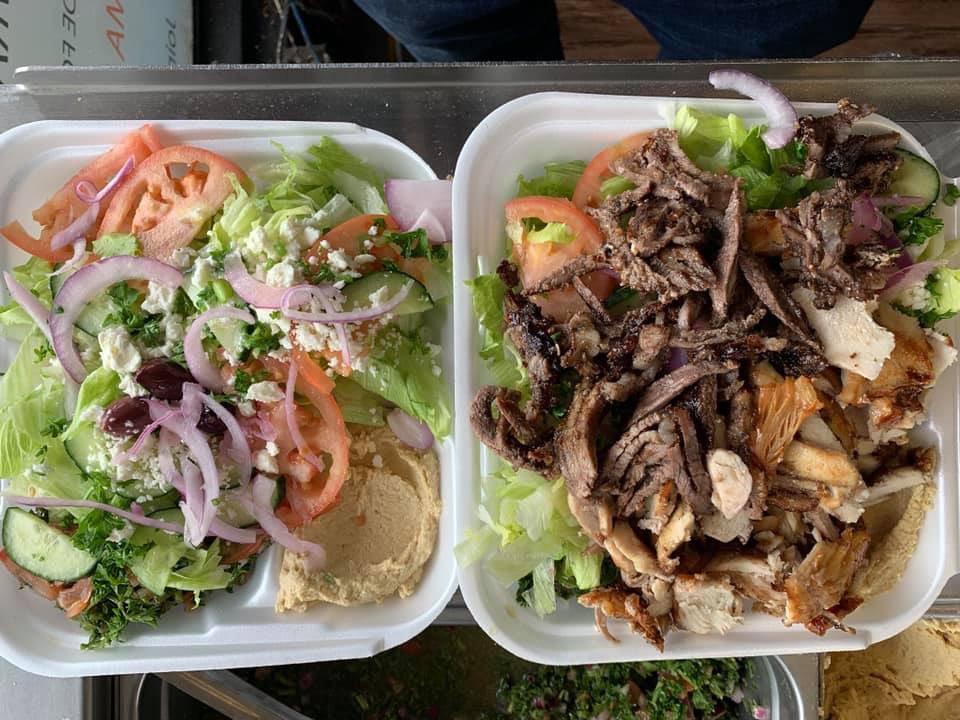 Another Amazing Catering By Us#fresh #catering #cateringtoronto #toronto #the6ix #luncheons #food #amazing #fresh #freshfood  #salad #beefshawarma #chickenshawarma #mixshawarma#veggie#vegan#glutenfree ✅✅✅ we got you covered