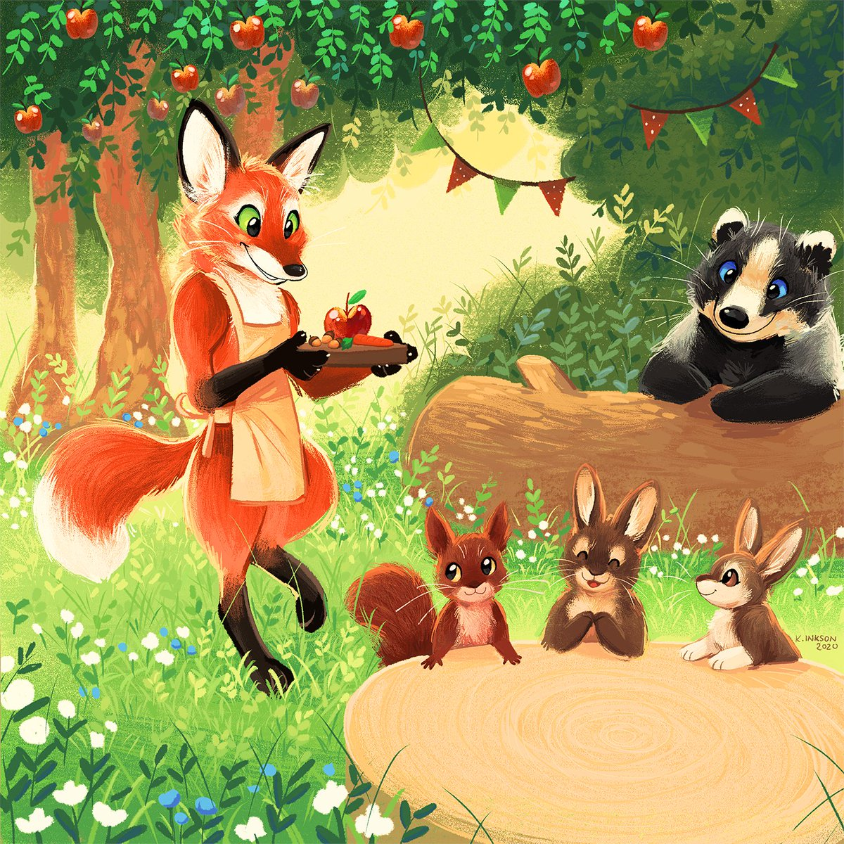 Welcome to the forest café! May we take your order?  #kidlitart #PortfolioDay <br>http://pic.twitter.com/63T9s3XpoK