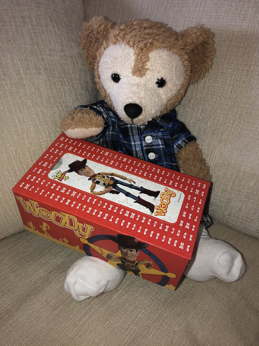 Mommy bought me Woody #ToyStory4 #Kleenex & I don't even have a cold! *mutters 2 self* Hummm..... I wonder if she did that so I'd furget about the Jellybeans?