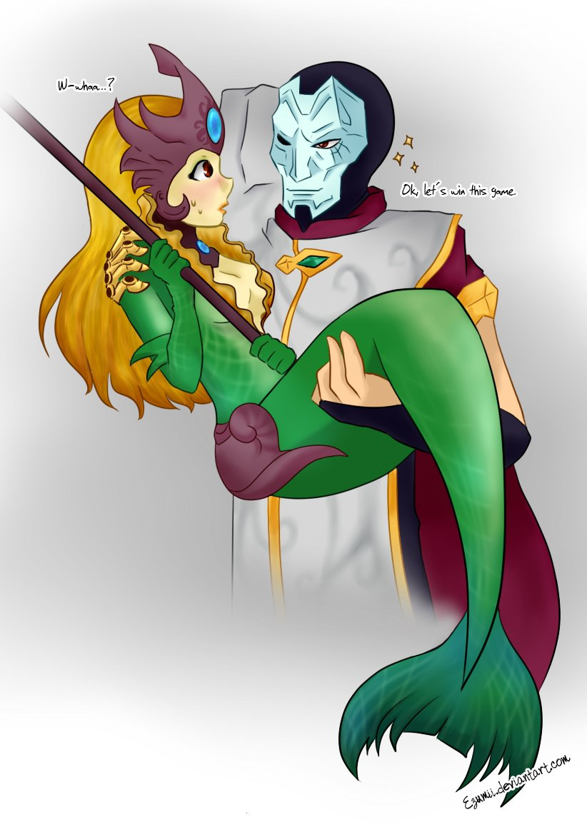 """One of my favorite """"duo"""" from the  bottom lane in League of Legends.  #leagueoflegends #jhinxnami #nami #jhin #lolart  HD: https://www.deviantart.com/ezumii/art/Jhin-and-Nami-827192095…pic.twitter.com/gWTXLRJ1cp"""