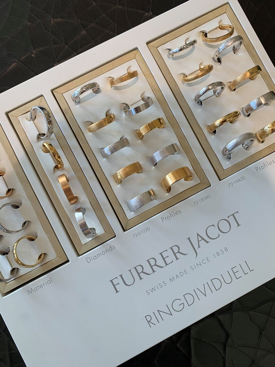 Furrer Jacot has been individually handcrafting wedding bands in Switzerland since 1858. Visit us downtown to view our selection! @furrerjacot #furrerjacot #weddings #weddingbands #rings #jewelry #jewelryoftheday #jewelrylover #jewelryloverspic.twitter.com/D7HR7sWahT