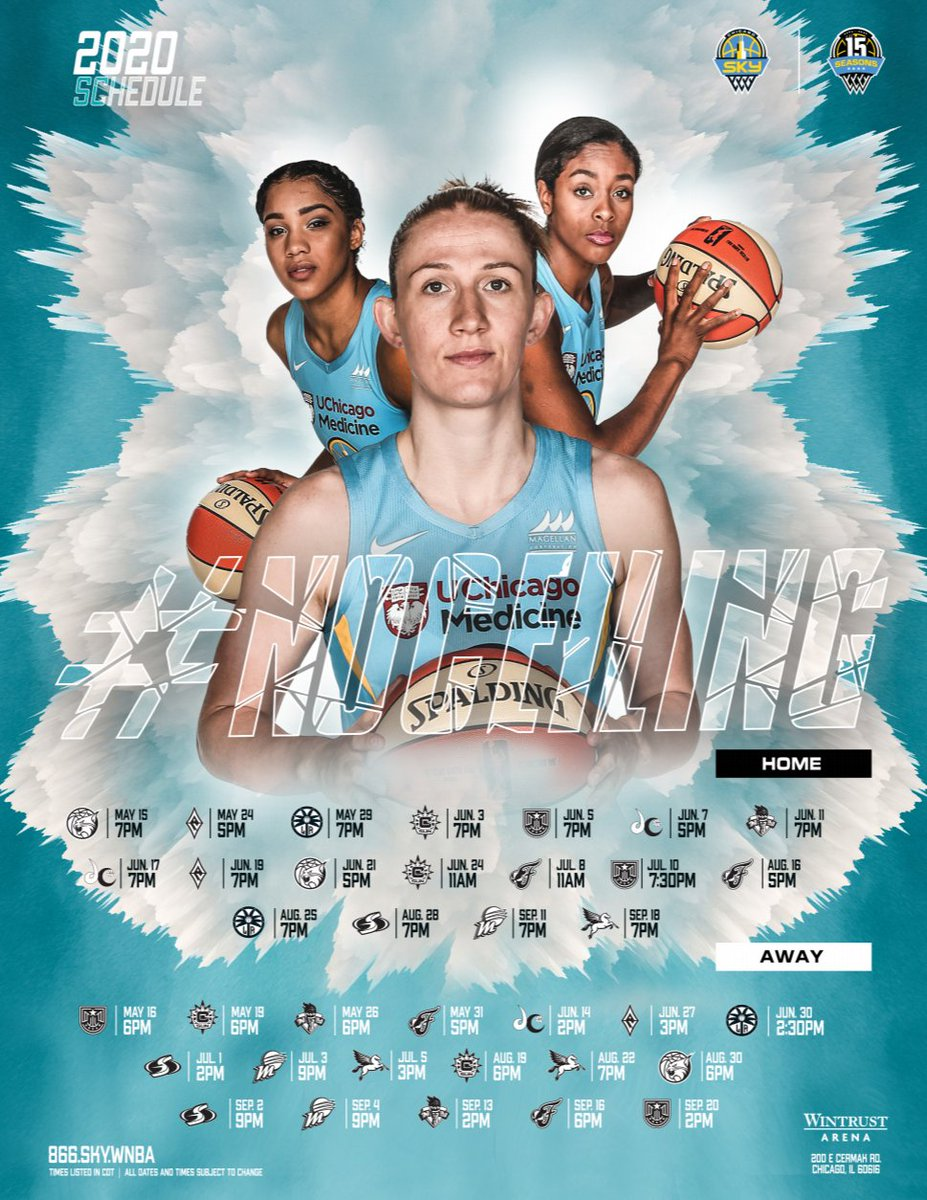 Courtney Vandersloot on the cover of the 2020 Sky Schedule seems promising for the upcoming Sky #WNBAFreeAgency!   #SKYTOWN http://bit.ly/2020SkySchedule