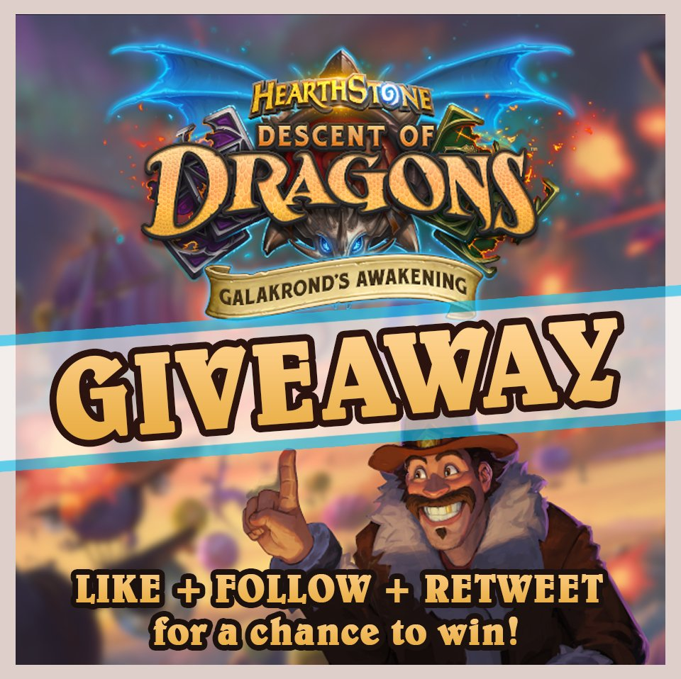 Want to play Hearthstone's new adventure: GALAKROND's AWAKENING? 😱Blizzard has given me codes to giveaway to 3 lucky winners!Follow these steps:☑️Follow me on Twitter💙Like this Tweet🔃Retweet the TweetWinner will be announced on: Jan 20.Adventure starts on: Jan 21!